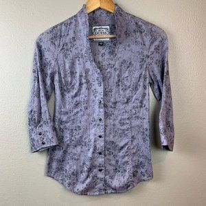 Guess floral button up blouse